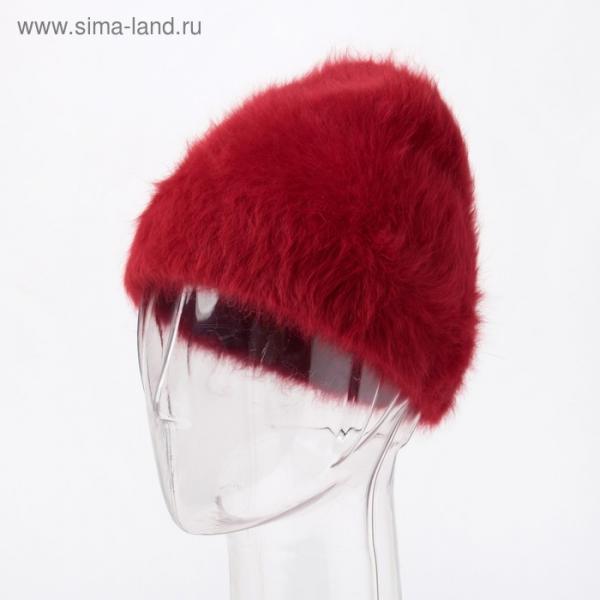 Шапка женская, цвет бордовый, размер 54