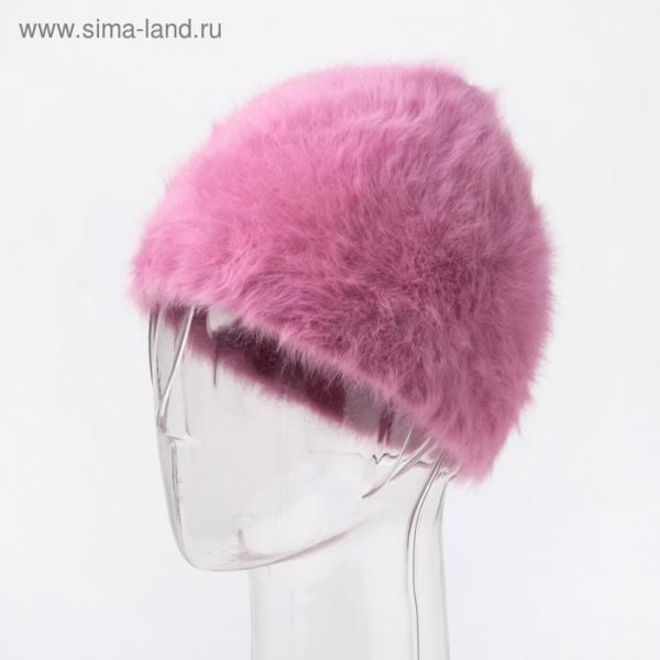 Шапка женская, цвет розовый, размер 54