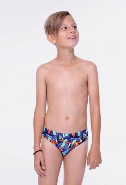 Плавки для мальчика с принтом Keyzi Sail slip 128 Синий Keyzi Sail slip