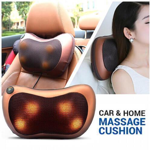 Массажная подушка с инфракрасным подогревом CAR & Нome