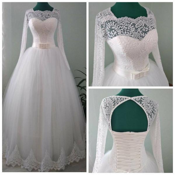 Пышное свадебное платье для полных Эмили