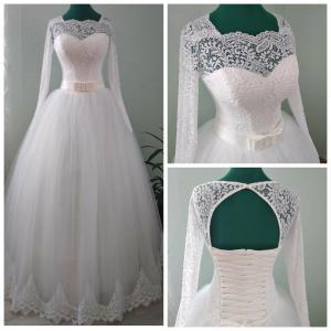 Фото Свадебные платья Пышное свадебное платье для полных Эмили