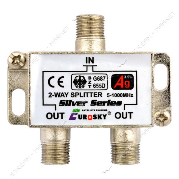 Сплиттер для антенного кабеля EUROSKY 2-Way c гайками