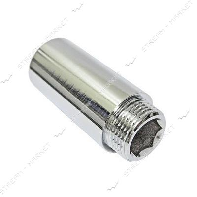 Удлинитель латунный 1/2' L=40мм хром JG