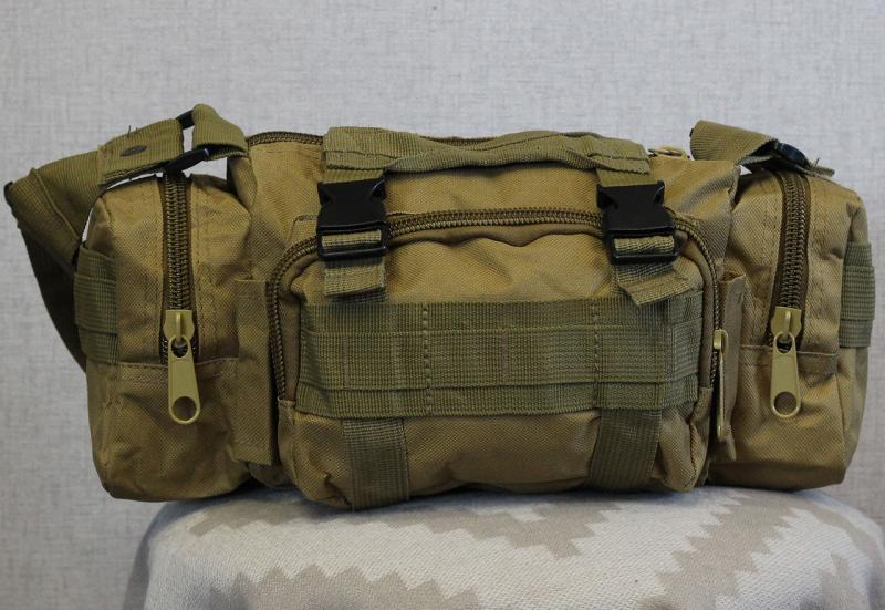 Тактическая универсальная (поясная, наплечная) сумка с системой M.O.L.L.E Coyote (104-coyote)