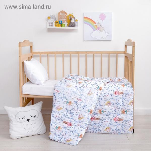 Одеяло Крошка Я «Принцессы» 110*140 см, хлопок/синтепон