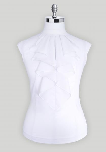 Блуза женская Michael Schaft Белая с жабо