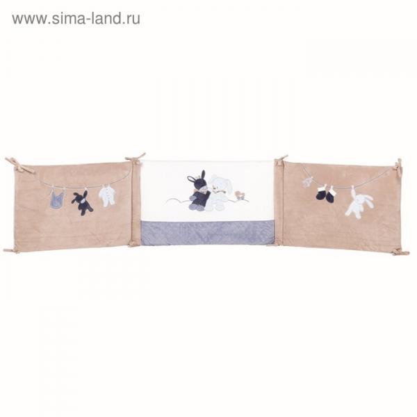 Бортик для кровати универсальный Nattou Alex & Bibou «Ослик» и «Кролик»