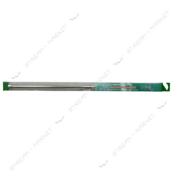 Карниз для ванной телескопический аллюминиевый серебро 75-120, Wella