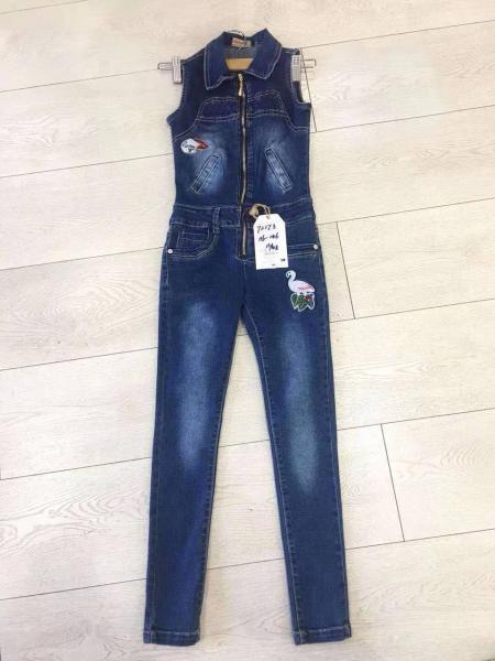 Стильный джинсовый комбинезон 116-146 см
