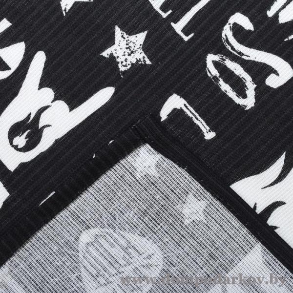 Фото ПОСМОТРЕТЬ ВЕСЬ КАТАЛОГ, Текстильные изделия , Фартуки / передники  Фартук Доляна Rock'n'roll, 60 × 70 см, рогожка, хлопок 100 %, 160 г/м²