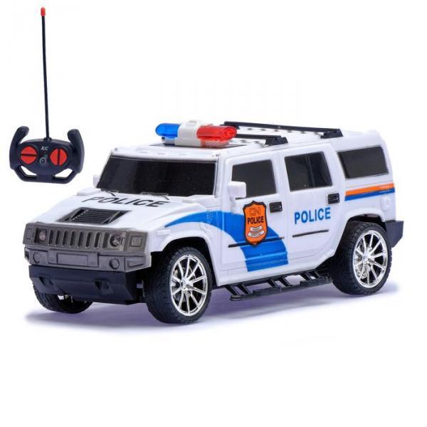 """Джип радиоуправляемый """"Полиция"""", масштаб 1:18, работает от батареек, МИКС"""