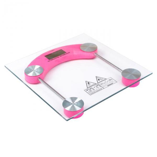 Весы напольные LuazON LVE-003, электронные, до 180 кг, розовые