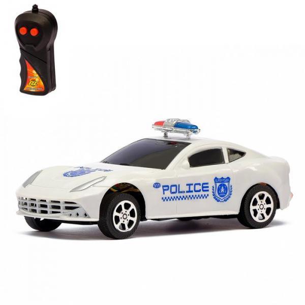 """Машина радиоуправляемая """"Гоночный патруль"""", работает от батареек, световые эффекты"""
