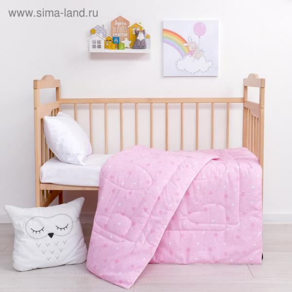 Одеяло Крошка Я «Сердца» 110*140 см, хлопок/синтепон