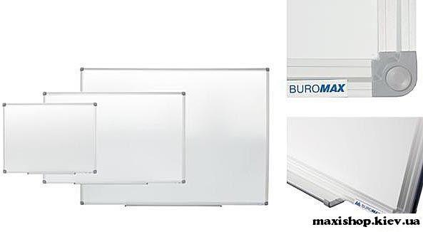Доска магн. для письма маркером, 90х120см, ал. рамка BM.0003 Buromax.