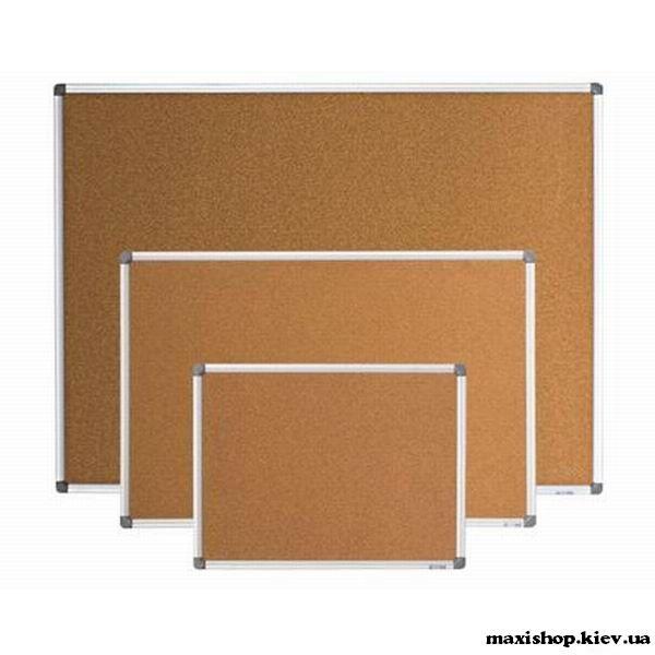 Доска пробковая, 45x60см, ал. рамка BM.0016 Buromax