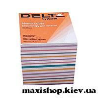 "Бумага для заметок Delta ""MIX"" 90Х90Х80мм, непроклеенная D8015"