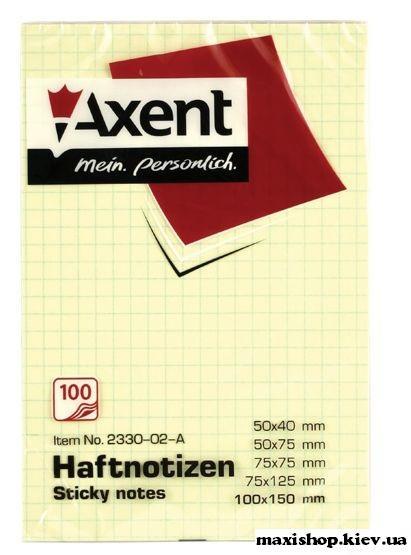 Блок бумаги с клейким слоем 100x150 мм 100л линия, клетка 2330