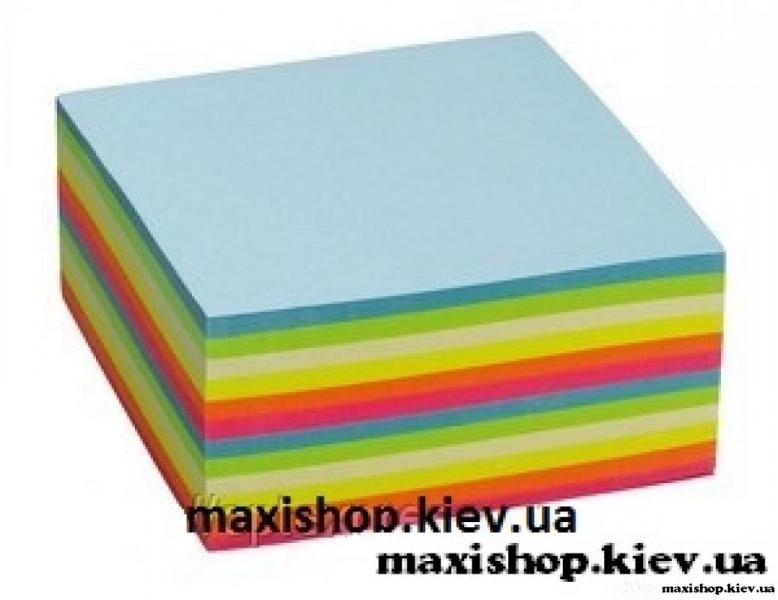 """Самоклеющийся куб 480 листов 75х75 мм """"Радуга"""" ( 5855-40 )"""