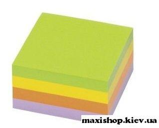 Самоклеющийся куб 400 листов 75х75 мм mix 4 цвета INFO NOTES