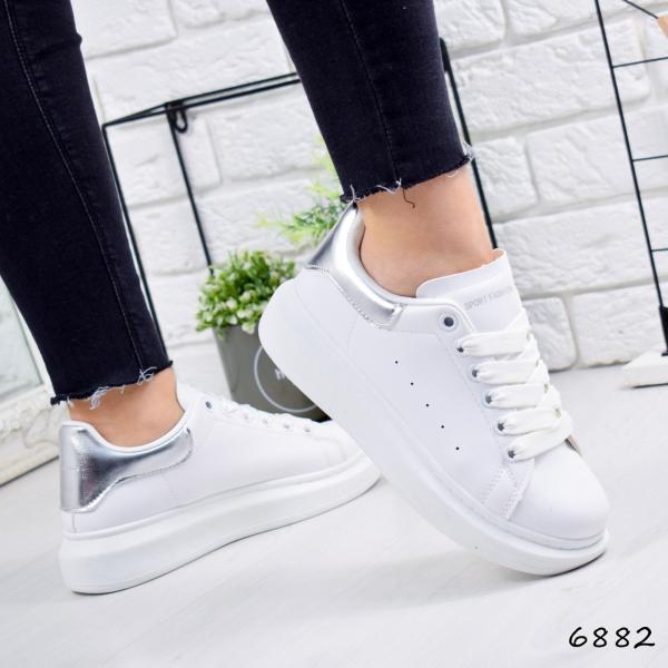 Кроссовки женские MQ белый + серебро