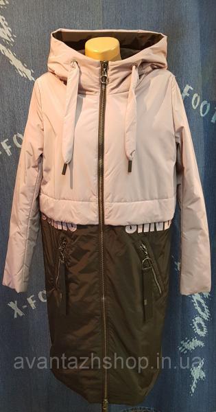 Пальто женское демисезонное двухцветное Mishele