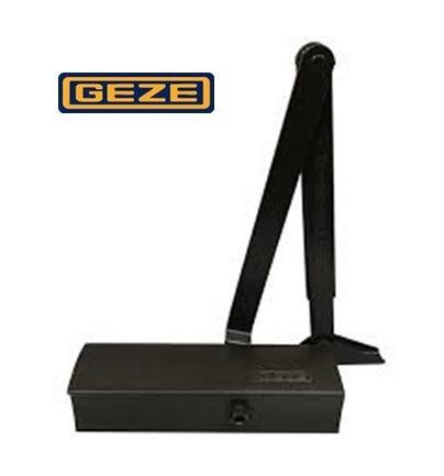 Доводчик дверей Geze TS 1500 коленная тяга (EN 3-4), чёрный.