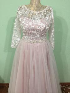 Фото Свадебные платья Стильное цветное свадебное платье для полных Марианна