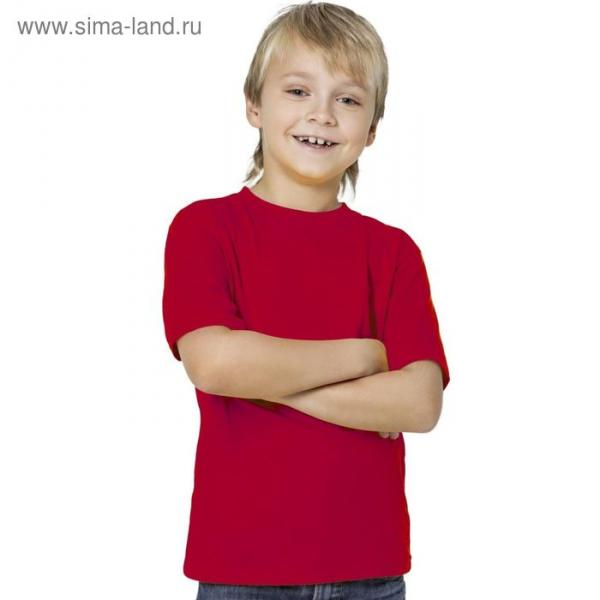 Футболка детская StanKids, рост 116 см, цвет красный 150 г/м