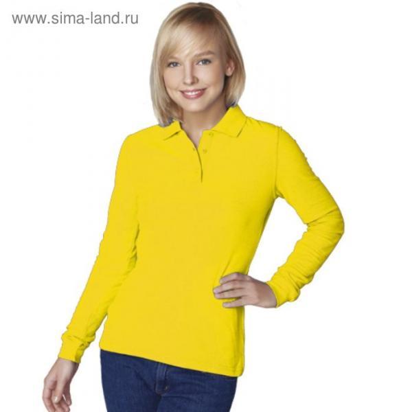 Рубашка-поло женская StanPolo, размер 50, цвет жёлтый 185 г/м