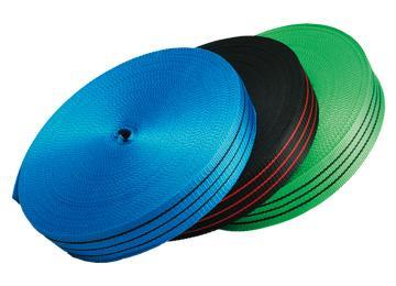 Лента капроновая цветная буксировочная 40 мм, 50 м (Буксировочная)