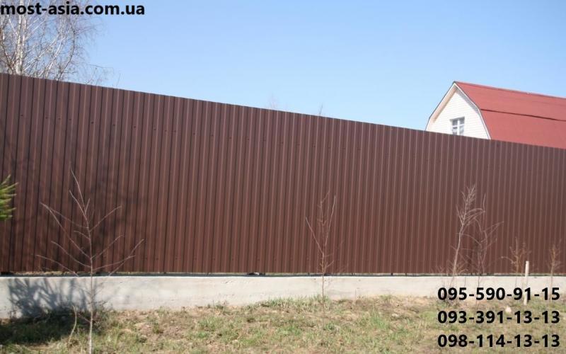 Профнастил РАЛ 8017, Металлопрофиль ral 8017 коричневый