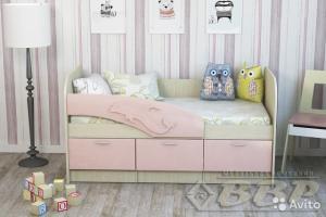 Детская кровать Дельфин -1 МДФ 1,6м (ВВР)