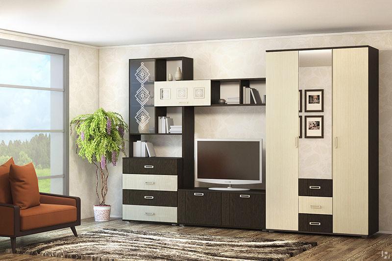 Фото Стенки и мебель для гостиной  Гостиная Берта (ВВР)