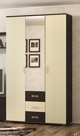 Фото Шкафы, шкафы-купе, пеналы  Шкаф 3-х створчатый Берта 1200 (ВВР)