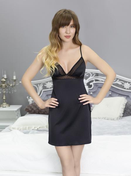 Короткая ночная сорочка Black Crystal