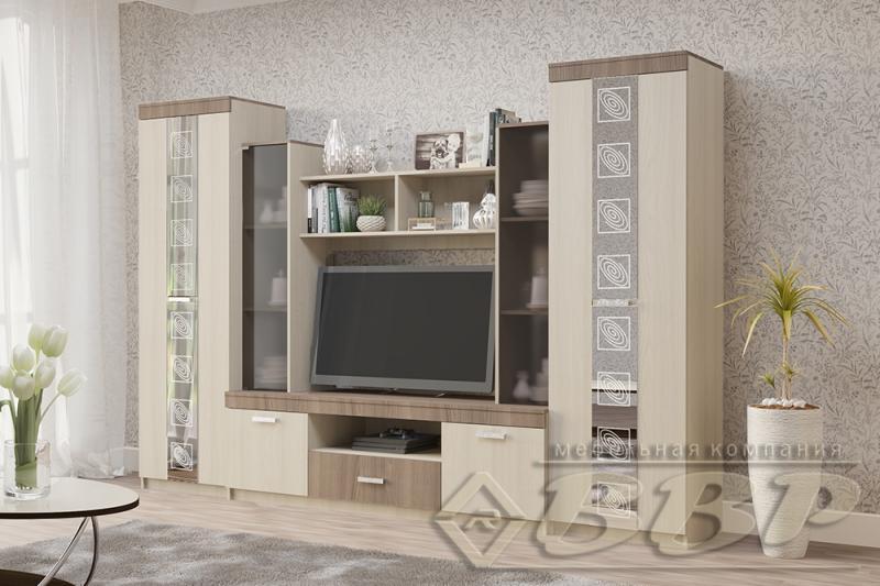 Фото Стенки и мебель для гостиной  Гостиная Венеция - 7 (ВВР)