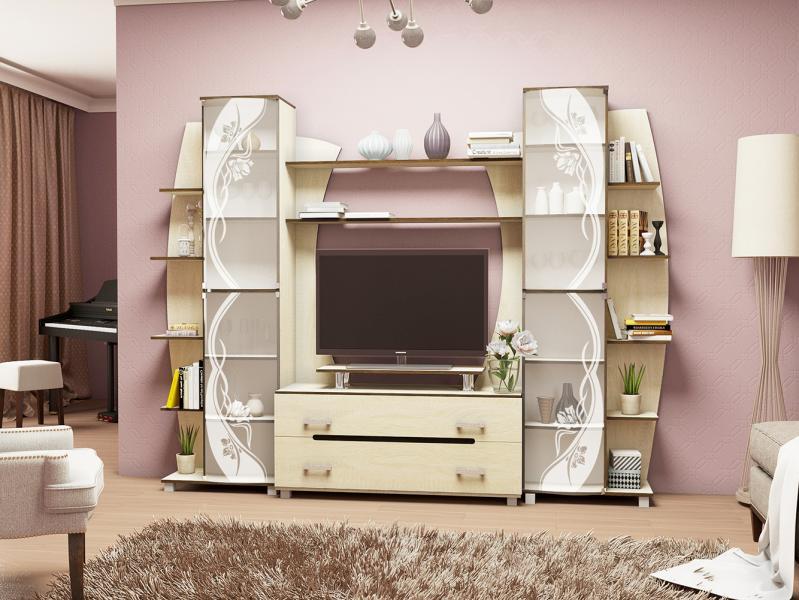 Фото Стенки и мебель для гостиной  Гостиная Тиана-2 (ВВР)