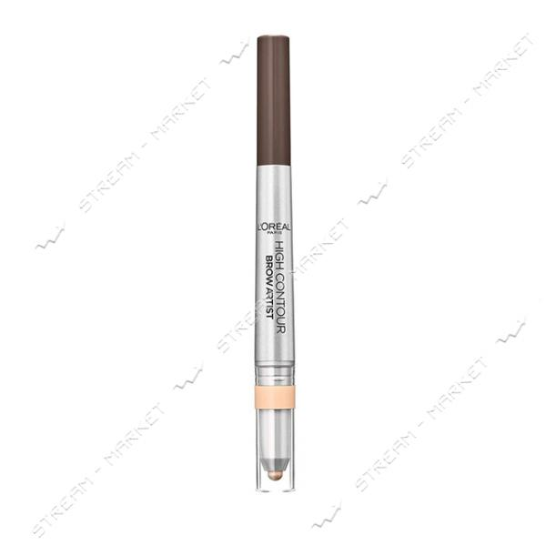 "Карандаш для бровей L""Oreal Paris Brow Artist High Contour 108 теплый коричневый 12г"