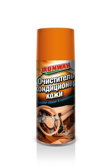 Очиститель и кондиционер кожи Runway RW6124  400 мл аэрозоль