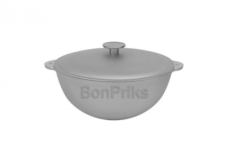 Казан алюминиевый Биол - 300 х 198 мм х 6 л, татарский с крышкой