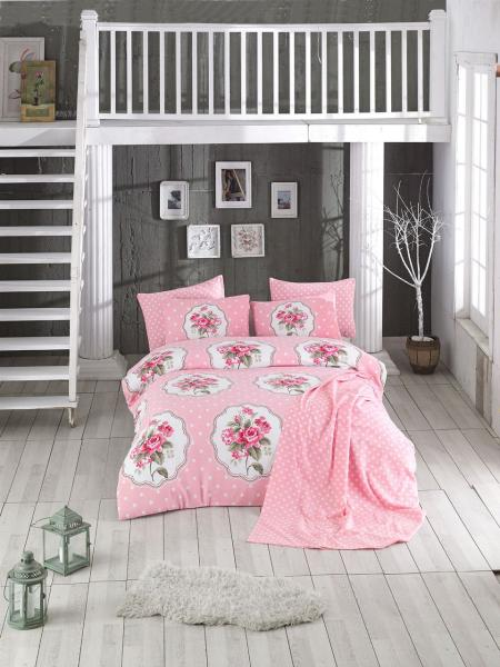 Комплект постельного белья Цветочный уют розовый