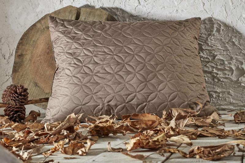 Стёганая подушка Какао