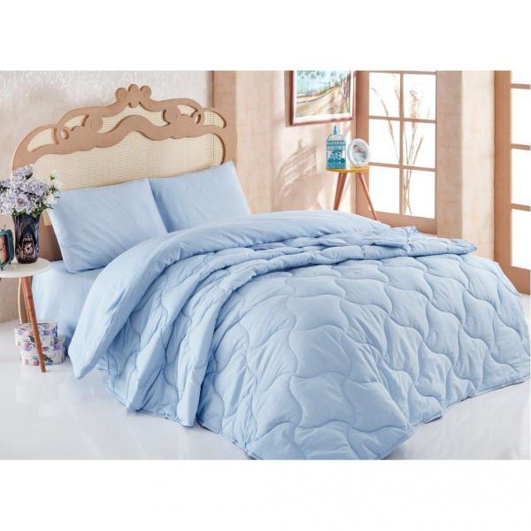 Комплект Одеяло + постельное бельё Голубой