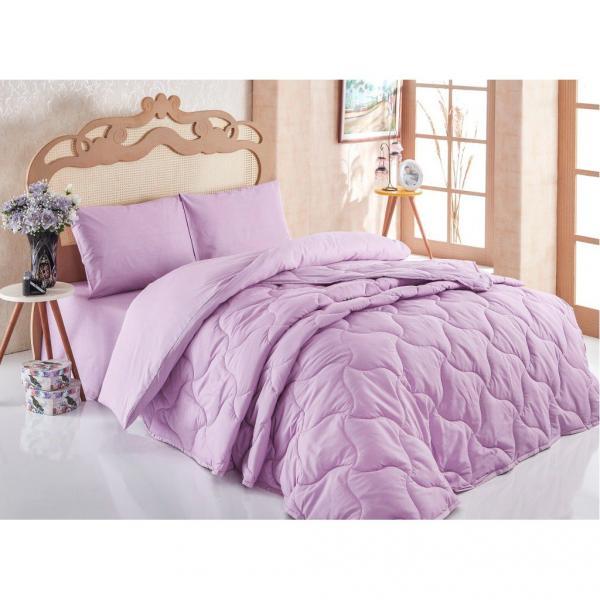 Комплект Одеяло + постельное бельё Лиловый