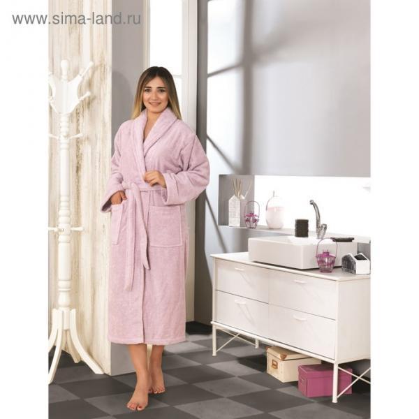 Халат махровый Basic, размер M (44), цвет сиреневый, 420 г/м2