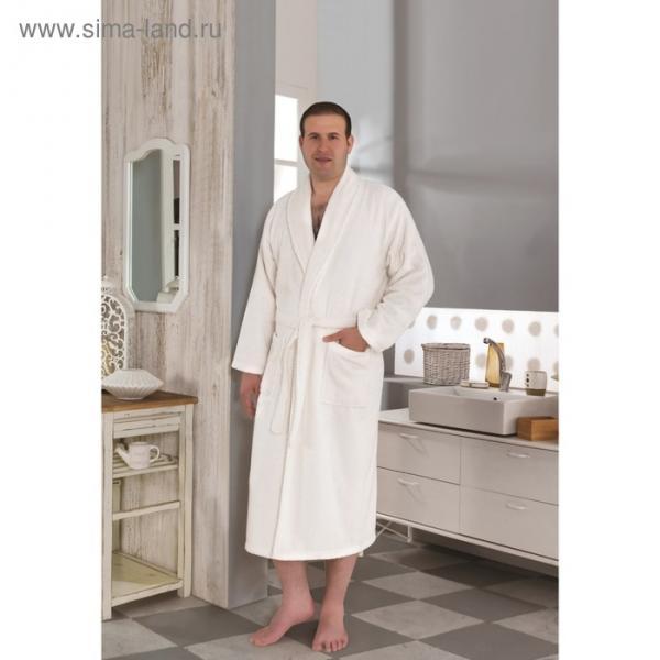 Халат махровый Smart, размер L (50), цвет кремовый, 420 г/м2