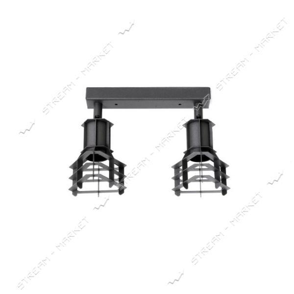 Светильник потолочный Atmolight Spoty Т L90-2 BlackPearl Е27 металл черный с перламутром