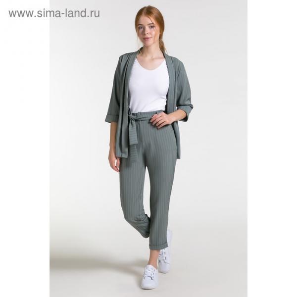 Костюм женский (пиджак, брюки) 07 цвет зелёный, р-р 42